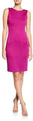 St. John Milano Wool-Blend Pintuck Dress
