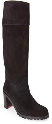 Christian Louboutin Karitube Suede Knee-High Boots