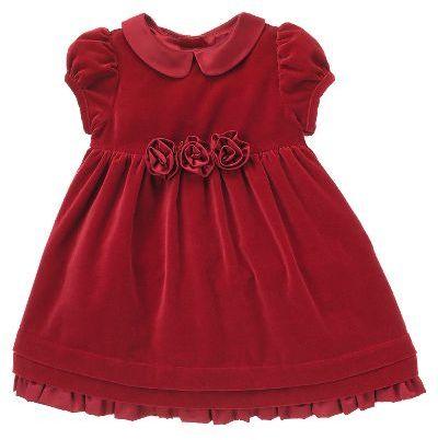 Rosette Velveteen Dress
