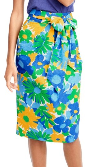 Women's J.crew Morning Floral Tie Waist Skirt