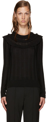 Marc Jacobs Black Wool Pointelle Sweater $350 thestylecure.com