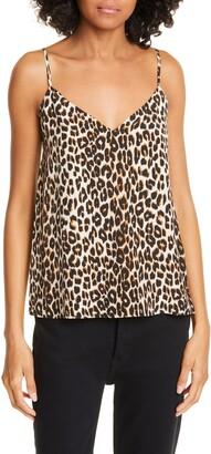 Equipment Layla Leopard Print Silk Camisole