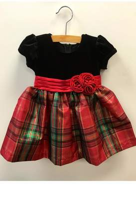 Bonnie Jean Holiday Tartan Dress
