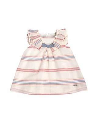 Pili Carrera Sleeveless Striped Cotton & Linen Shift Dress, White, Size 2-6 $122 thestylecure.com