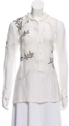 Dries Van Noten Silk Embellished Blouse