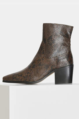 Shoe The Bear BLOCK HEEL SNAKE PRINT BOOT