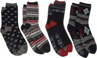 Muk Luks Cozy-Lined Socks Set of Four