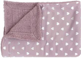 Thro Isabella Foiled Hearts Jersey Throw