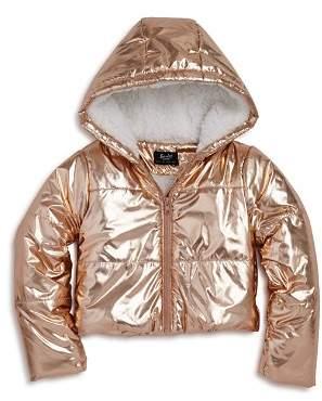 Bardot Junior Girls' Alexa Metallic Puffer Coat - Big Kid