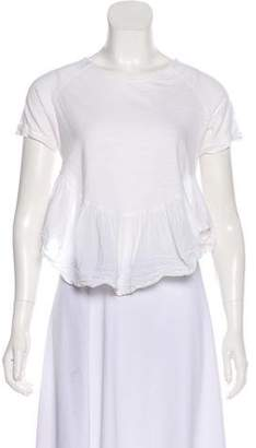 Elizabeth and James Scoop Neck Ruffle-Accented Top