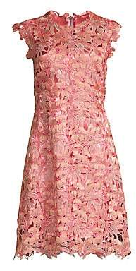 Elie Tahari Women's Jelena Floral Crochet Shift Dress - Size 0