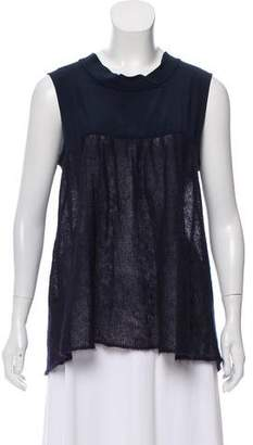 Miu Miu Mohair-Blend Sleeveless Top