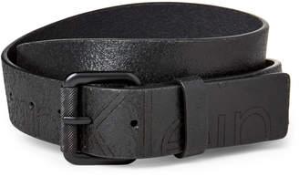 Calvin Klein Black Casual Logo Leather Belt