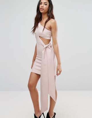 AQ AQ AQ/AQ Asymmetric Mini Dress With One Sleeve And Drape Panel $198 thestylecure.com