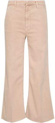 Mother Stretch-cotton Gabardine Kick-flare Jeans