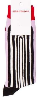 Henrik Vibskov ET Printed Woven Socks w/ Tags