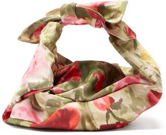 Simone Rocha Wrap Baby Floral Print Satin Bag - Womens - Multi