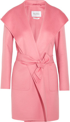 Max Mara - Hooded Cashmere Coat - Pink $5,090 thestylecure.com