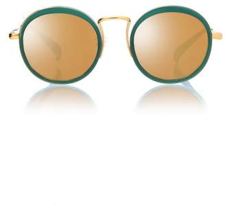 Blanc Eclare Kyoto Jade And Gold Metal With Gold Mirror Lens