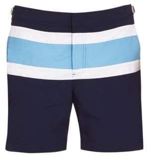 Orlebar Brown Bulldog Stripe Panel Swim Trunks