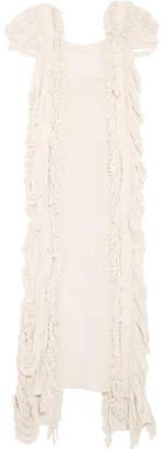 Caravana - Xtabentun Fringed Cotton-gauze Maxi Dress - Off-white