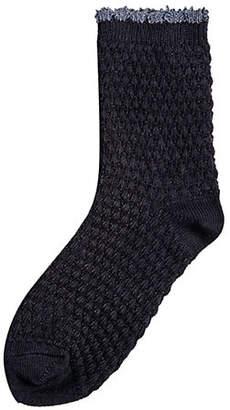Hue Textured Crew Socks