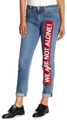 Love Moschino We Are Not Alone Skinny Jeans