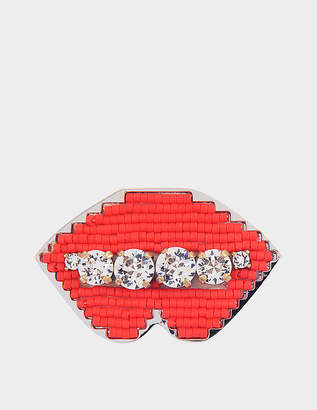Shourouk Emojibling Lips brooch