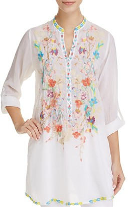 Johnny Was Nikki Embroidered Tunic $246 thestylecure.com