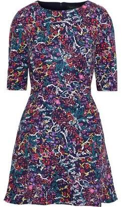 Saloni Celia Floral-print Cady Mini Dress