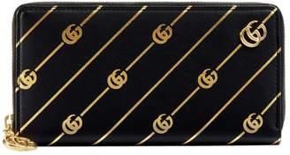 Gucci Zip around wallet with Double G stripe