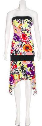 Y for Yigal Strapless Midi Dress