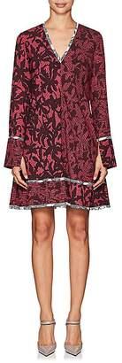 Proenza Schouler WOMEN'S ABSTRACT-PRINT SILK A-LINE DRESS