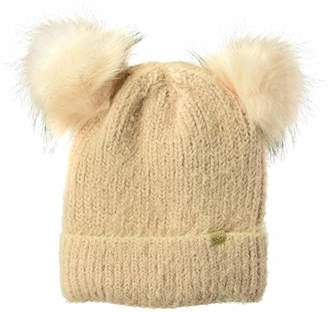 237dab57 D&Y Women's David & Young's Sable Touch Knit Double pom Beanie