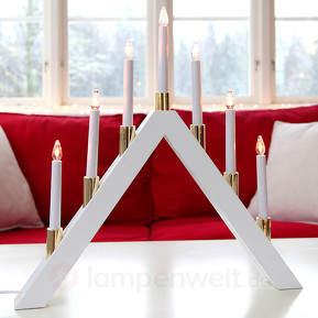 Zeitlos schöner LED-Kerzenleuchter Halla
