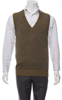Dolce & Gabbana Metallic V-Neck Sweater Vest
