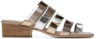 Donald J Pliner DORIS, Colorblock Mirror Metallic Sandal