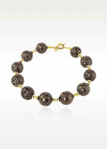 Murano Antica Murrina Dream Glass Ball Gold Plated Necklace