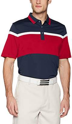 Cutter & Buck Men's Moisture Wicking Drytec Everson Wide Scale Stripe Polo Shirt