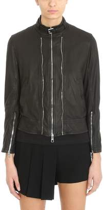 Neil Barrett Black Leather Bomber