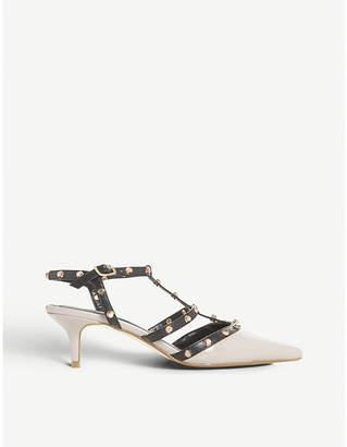 Dune Castelo patent leather kitten heels
