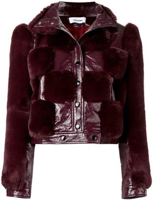 Courreges fur panel cropped jacket