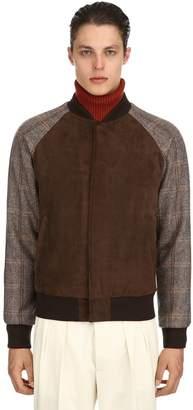 Lardini Suede & Wool Bomber Jacket