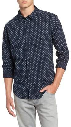 RVCA Mini Paisley Woven Long Sleeve Shirt