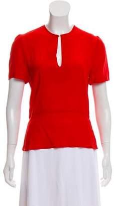 A.L.C. Short Sleeve Silk Top
