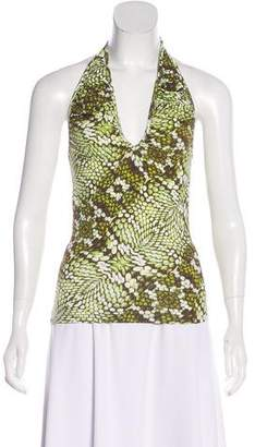 Just Cavalli Printed Halter Top