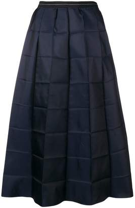 Marni folded check skirt