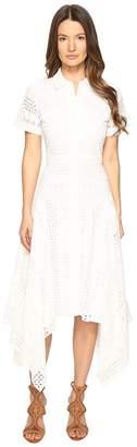 Prabal Gurung Short Sleeve Handkerchief Hem Dress Women's Dress