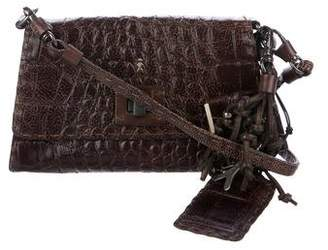 Henry Beguelin Embossed Leather Micro Tiffany Bag