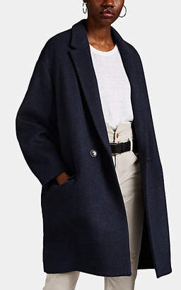 Isabel Marant Women's Filipo Oversized Wool-Blend Double-Breasted Coat - Navy